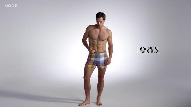 """過去100年のメンズ """"水着"""" の歴史を振り返る動画にドキドキが止まらない! 着替えシーンにも要注目だよ♪"""