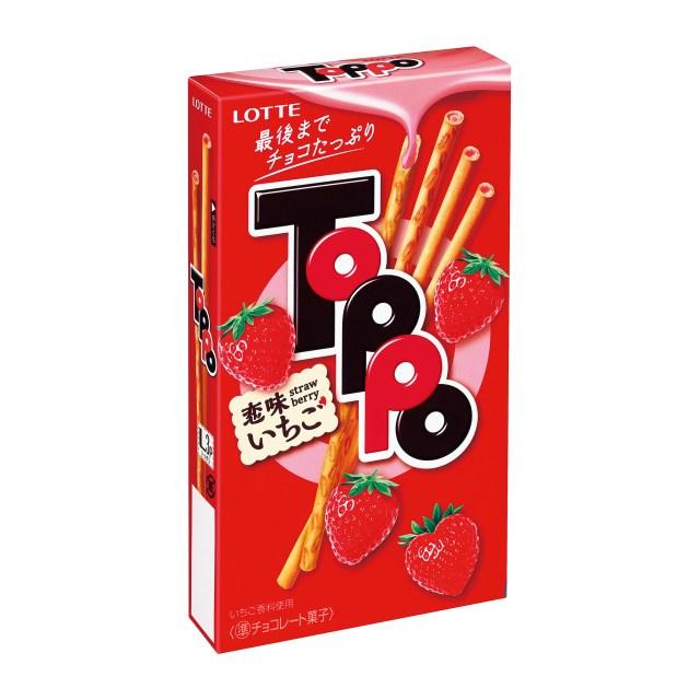 恋の味を忘れたアラサー女子必食♪ 新作「トッポ」には甘酸っぱい恋味のイチゴチョコがたっぷり入っているそうです!