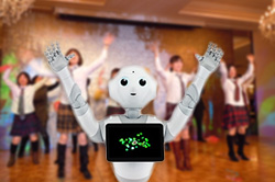 パーソナルロボット「pepper(ペッパー)」が結婚式に来てくれる! 内蔵カメラで記念撮影したり乾杯の挨拶したりと盛り上げてくれるよ!!