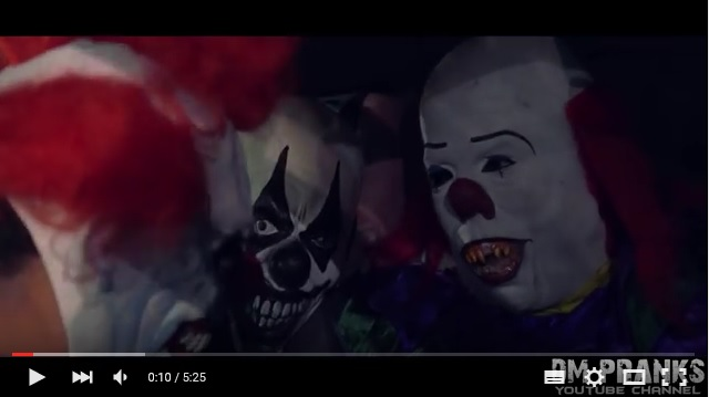 【マジ怖】ドッキリってレベルじゃない!! 殺人ピエロが人々を脅かす「ドッキリ動画」がシャレにならない恐ろしさ!