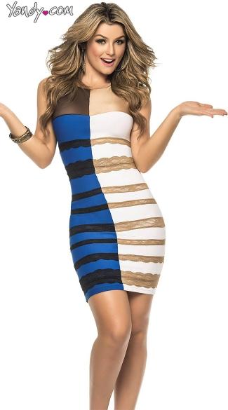 「白×金」「青×黒」どっちに見える? ネットで一大議論を巻き起こした「何色に見える?」ドレスがハロウィン衣装になっちゃった!!