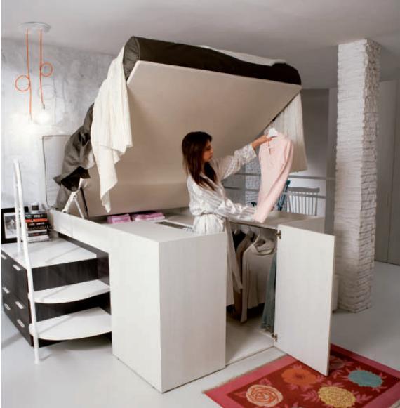 【グッドデザイン】ベッドの下にクローゼット! スペースを賢く使えるハイブリッド家具を発見したよ☆