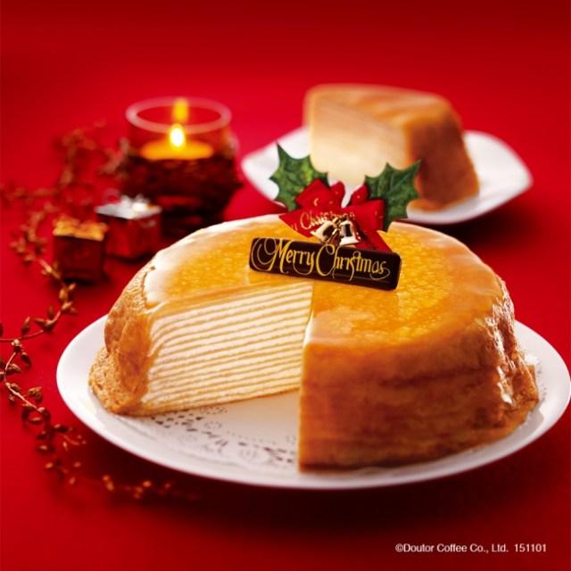 【スイーツ速報】あのドトールのミルクレープをホールサイズで! 今年のクリスマスケーキは限定商品「クリスマスミルクレープ」で決まりッ