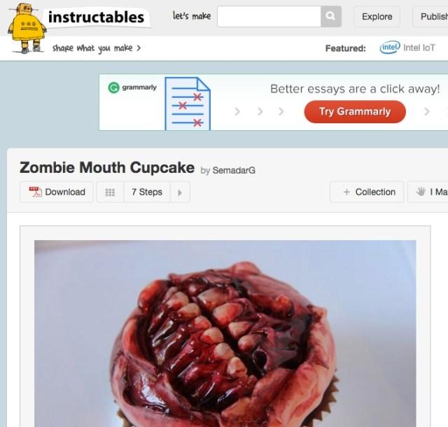 【閲覧注意】ゾンビの口元を超リアルに再現したカップケーキ! あなたは食べる勇気があるか…!?