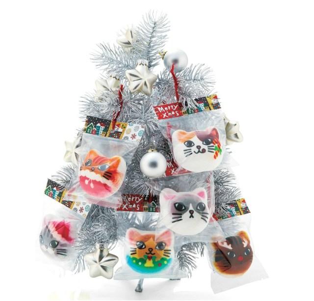 """今年のクリスマスはこの """"オーニャメント"""" で決まり! ニャンコのマシュマロ「ニャシュマロ」にクリスマスバージョンが登場したよ♪"""