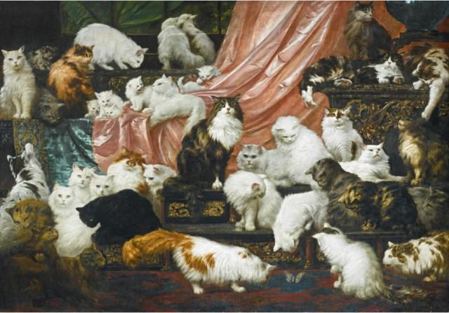 ネコの絵画が1億円超で落札!! 一般庶民には想像もつかないほどセレブな42匹のネコ集団をご覧あれ!
