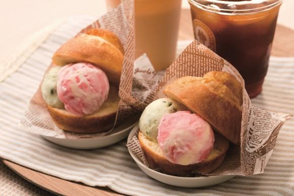 熱々ふわふわパンに冷た~いジェラートを挟んで食べる「ブリオッシュ コン ジェラート」が横浜・みなとみらいに登場するよ!