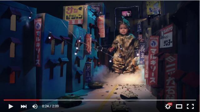 【パパすごい】CG&美術がめちゃくちゃ凝ってる! 「愛娘がゴジラになって街を破壊している」動画が可愛くってクオリティ高っ!