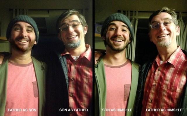 オレがアイツで、アイツがオレで…? 父親と息子がそっくりすぎて頭がこんがらがっちゃう仮装写真が話題に!