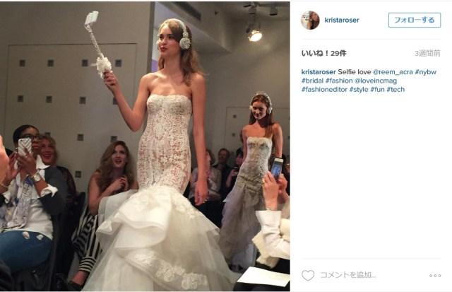 """これからの結婚式は """"新婦の自撮り"""" が常識!? ウェディングドレスとマッチした「新婦用自撮り棒」がキラキラで可愛い!"""
