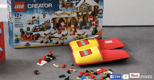 """レゴを踏んでも痛くない! 悲願の """"レゴ用スリッパ"""" 登場!! 部屋中に広げてもビクビクしないで歩けるよ〜☆"""
