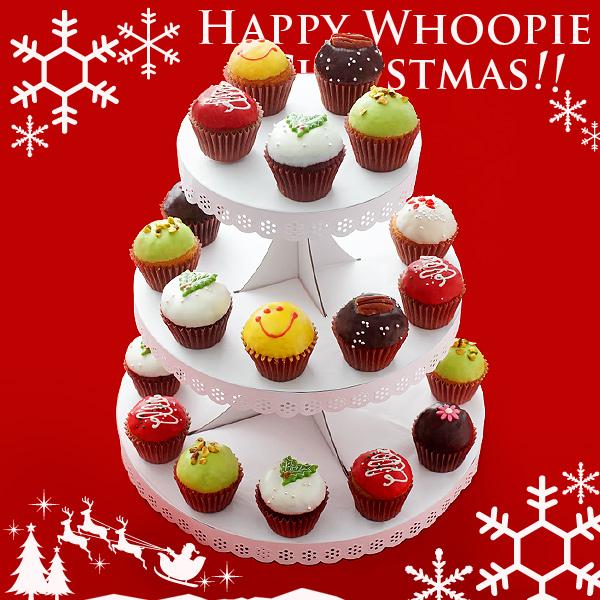 チャプチーノの「クリスマス限定ウーピーパイ」がカラフルでキュート☆ ツリーっぽく飾って盛り上がっちゃお!