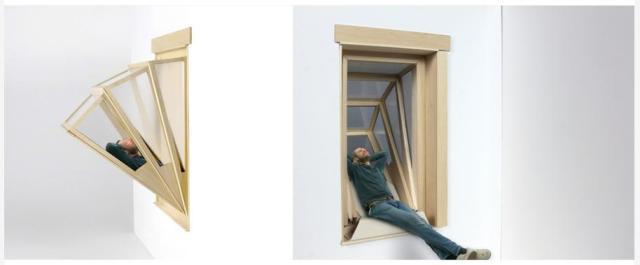 """窓がグイーンと広がってリラックス空間に♪ アルゼンチンの建築家が考えた """"空を見上げられる出窓"""" が画期的"""