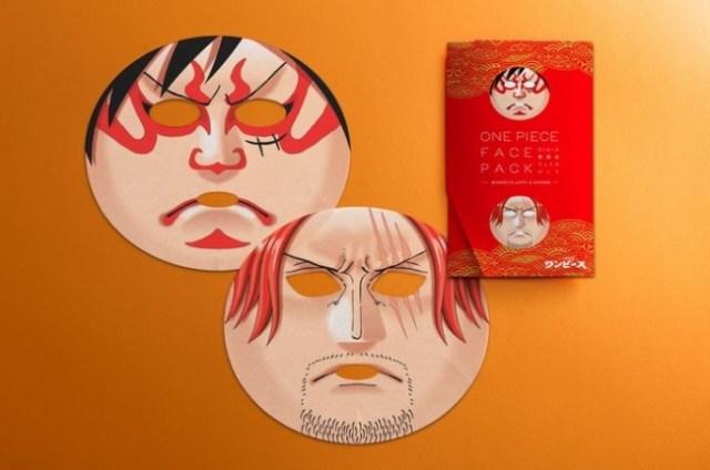 『ONE PIECE』が歌舞伎フェイスパックになったよ! ルフィとシャンクスになれて、オマケに美肌になれるとか…すっげぇー!