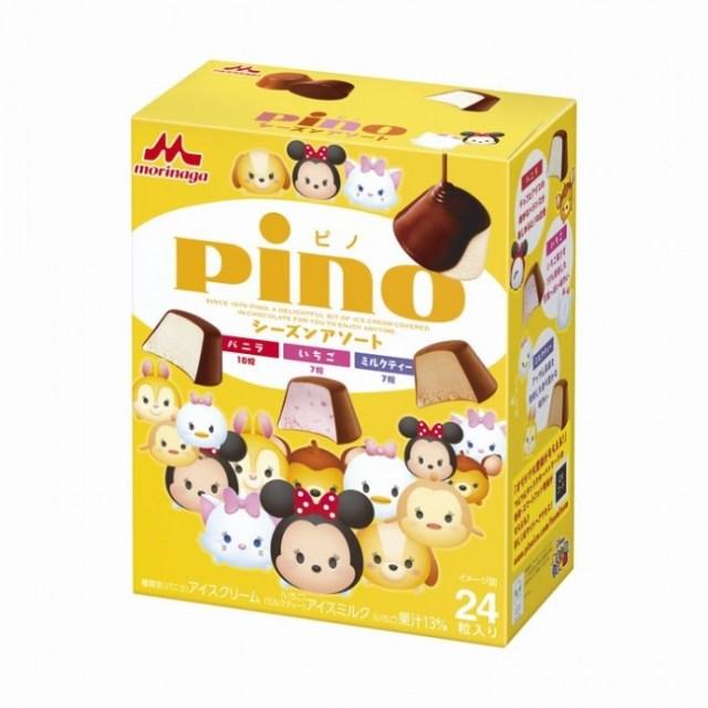 「ディズニーツムツム」が「ピノ」とコラボ! キャラがあしらわれたパッケージと個包装フィルムがにぎやかで可愛いっ!!