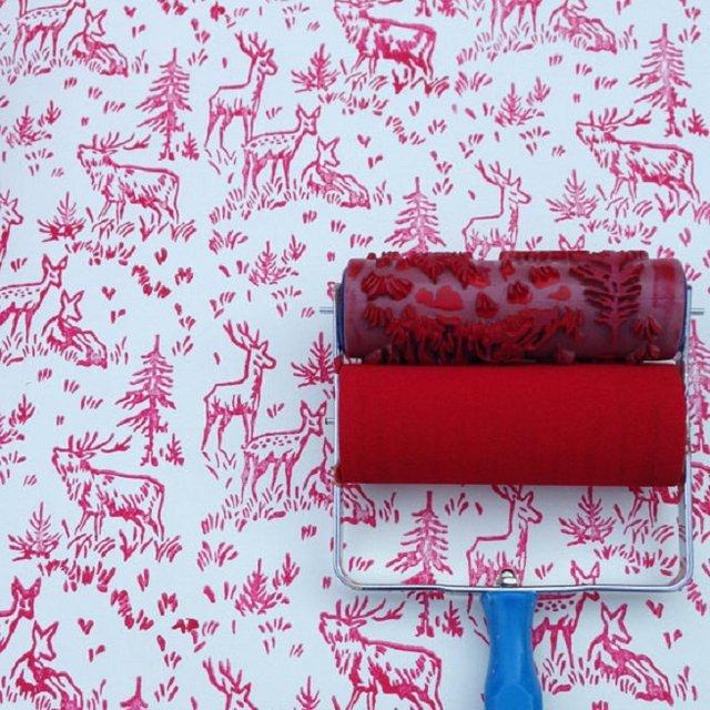 動物やお花の柄でキュートに模様替え! 手軽にできる塗料ローラーで休日DIYにチャレンジしよう♪