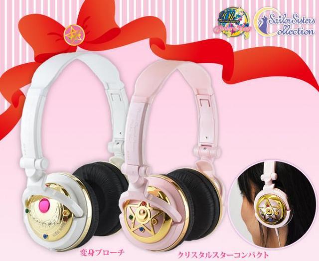 『美少女戦士セーラームーン』ヘッドフォンが可愛すぎてツライ! 変身ブローチ&クリスタルスターコンパクトがモチーフだよ☆
