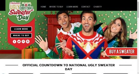 12月18日は「ダサいクリスマスセーターを着る日」だよ! ダサいセーター専門サイトで手に入れてデビューしちゃお☆