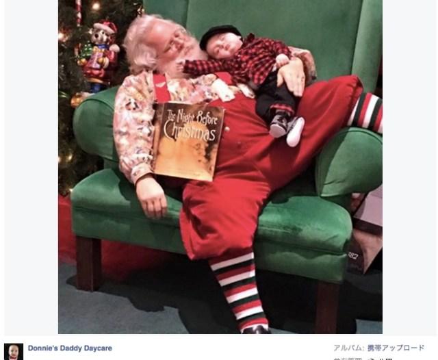 【神対応】サンタさんに会うために並んでいたのに寝てしまった赤ちゃん。サンタさんがとった驚くべき行動とは!?