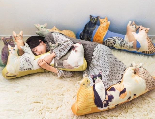 猫にまみれてウッハウハ! 総勢20匹のニャンコたちと過ごせる「にゃんともぜいたくな 猫まみれハーレムクッション」が最高すぎる!!