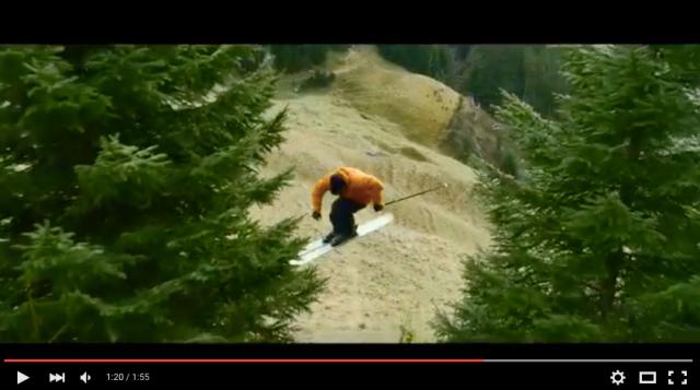 雪がなくても平気なの!? プロスキーヤーが雪の無い山道を滑走する映像がスゴすぎる!