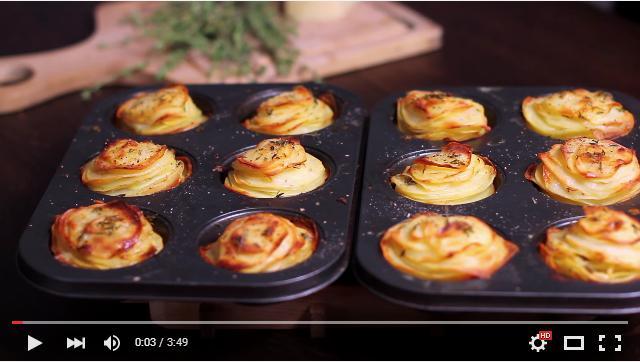 ポテトの薄切りは揚げずにオーブンへ! 簡単でレストラン級にオシャレな「焼きチーズポテト」のレシピをご紹介☆