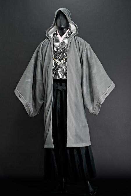 【彼氏に着せたい】和服の上に羽織る男性向けパーカーがものすご〜くカッコよくてびっくり! 着物の上でも違和感なし☆