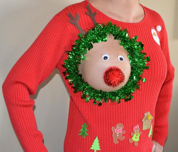 【セクシーなのか】この露出、思い切りすぎ!! ○○を大胆に見せた「ダサいクリスマスセーター」が販売されていたなり