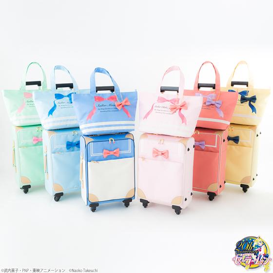 「セーラームーン」トローリーバッグが可愛すぎる〜! 淡いパステルカラーにキュンキュン♪ しかも機内に持ち込めるサイズ!