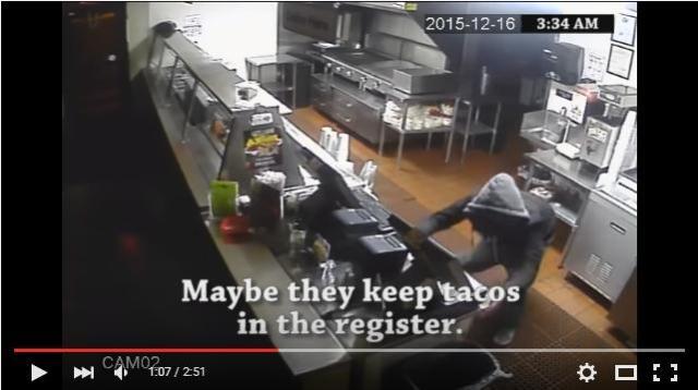 強盗はタコスがめっちゃ食べたかった…!? 防犯カメラの映像から生まれた「目からウロコな動画」をご覧あれ!
