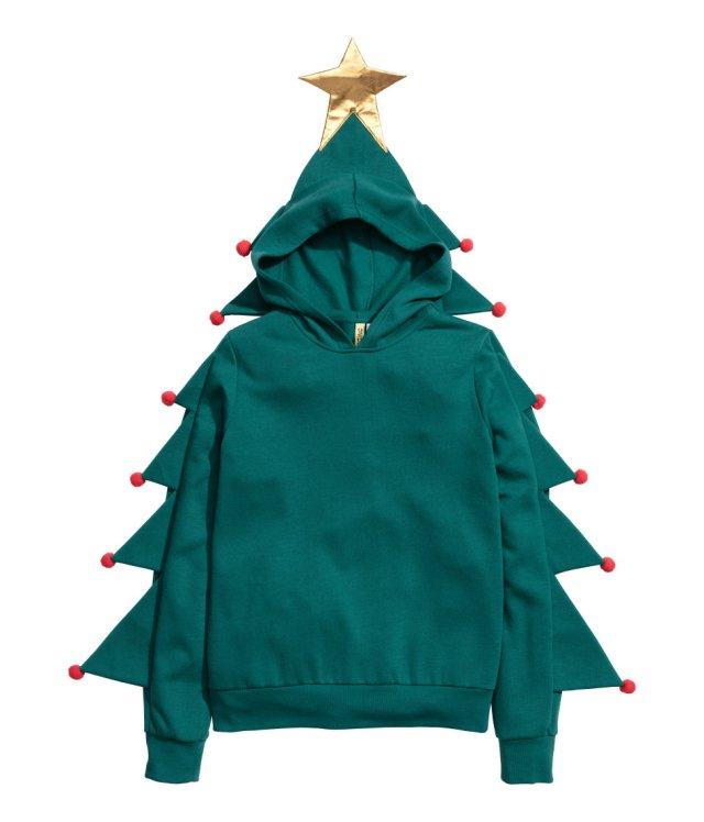 H&Mのクリスマスアイテムがダサいというかファニーな件 / パーカーがどっからどう見ても完全にクリスマスツリー