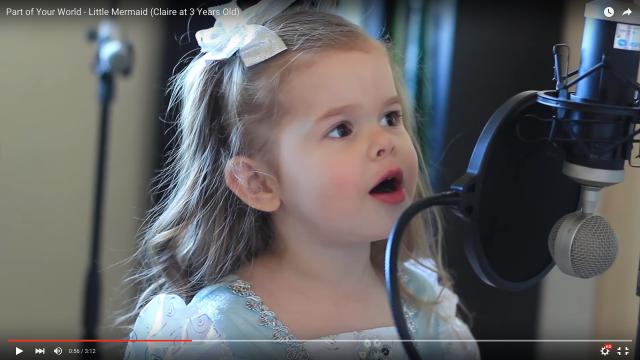 ずっと聴いていたい…3歳児が歌う『リトル・マーメイド』が天使の歌声すぎて号泣しちゃう大人たちが続出しているよ!