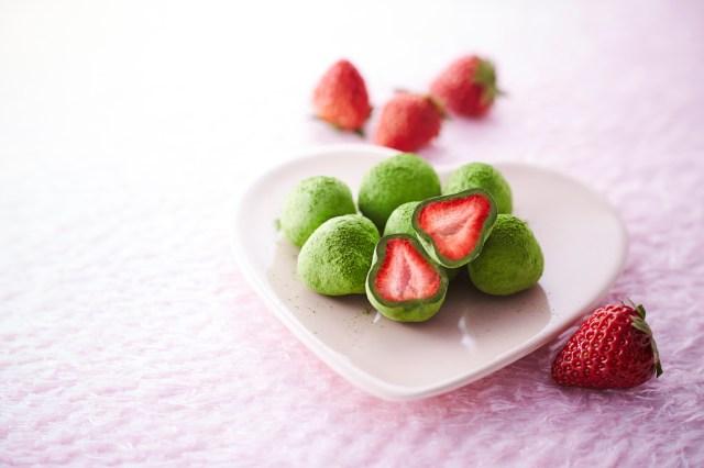 丸ごとイチゴを抹茶チョコでコーティング♪ 京都の老舗茶屋による名前もお茶目な「お茶苺さん」がおいしそうです☆