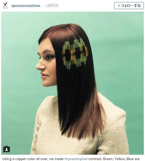 髪の毛の上にドット絵を描く「ピクセルヘア」が世界的に流行のきざし! 近未来的なビジュアルが意外とカッコいい!!