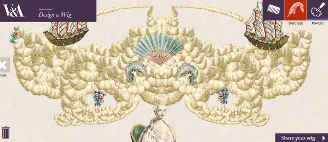 【超シュール】18世紀貴婦人のヘアスタイルをデザインできるサイト…がカオスすぎる!! マリー・アントワネットも驚くよ!!