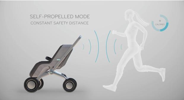 ママが走ればベビーカーも走る! 親の動きに合わせ自分で動く新時代ベビーカー「スマートビー」の未来感がハンパ無いっ!