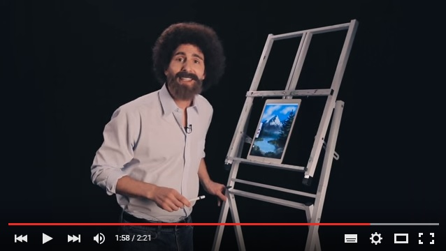 アフロヘアに2インチの筆…「ボブの絵画教室」が帰ってきたーッ!! と思ったらAdobeが作った高度なパロディ動画だったでござる!