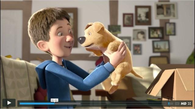"""【泣ける動画】家に閉じこもってゲームばかりしている少年に贈られたのは """"脚が1本ない"""" 子犬でしたが……"""