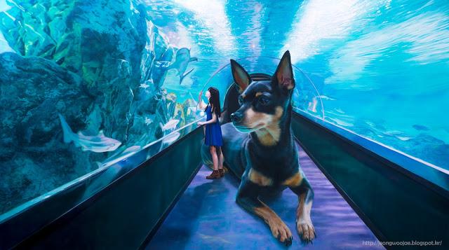 リアルなのにマジカル…こころ癒される油絵「少女と巨大な犬」の不思議な世界観に浸ろう