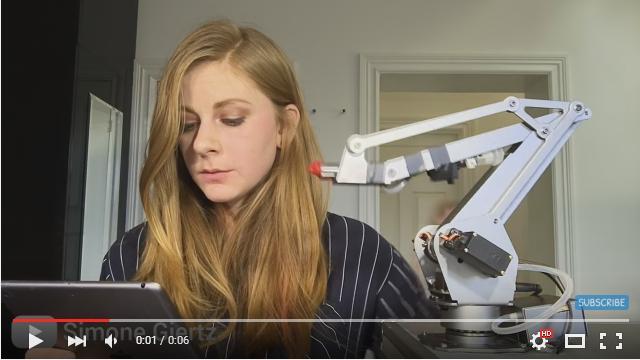 「ビンタで起こす時計」を発明した女性の新作が出来たよ! 今度は「自動で口紅を塗ってくれるロボット」のようですが……!?
