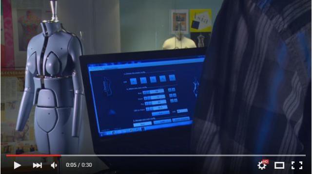 体のサイズを自由自在に調整できる! たった8秒でトランスフォームする未来型マネキンの動画が超クール!!