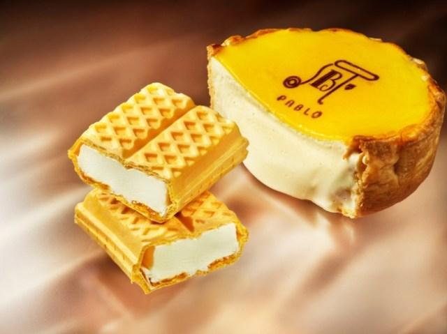 人気店「PABLO」のチーズタルトがモナカアイスになっちゃった! お店で食べる焼きたてチーズタルトをアイスで再現しているよ☆