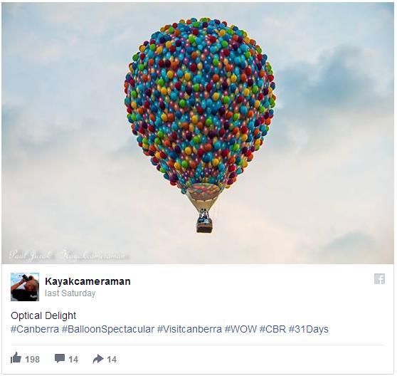 """リアル「カールじいさんの空飛ぶ家」!? オーストラリアで開催されたイベントに """"無数の風船で浮かぶ気球"""" が現れた!"""