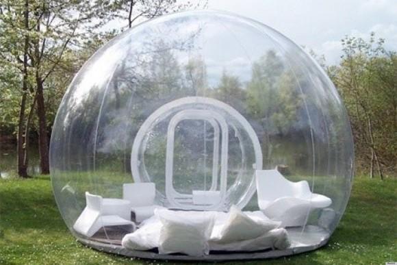 眺め最高&開放感抜群! 透明な球体が美しい「バブルテント」でいつもとは違うアウトドアライフを♪