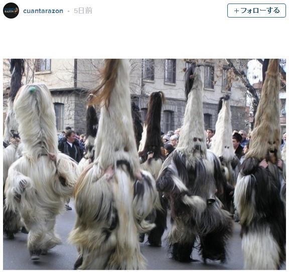 巨大なモフモフの着ぐるみが不思議カワイイ! ブルガリアのお祭り「クケリ」の衣装のインパクトがものすごい