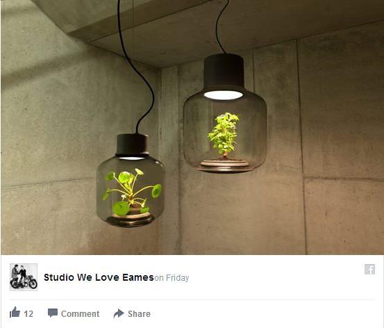 日光がなくても換気しなくてもOK♪ 植物を育てることができるランプ型植木鉢がオシャレ!