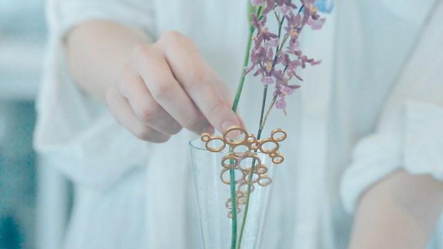 もうお花を枯らさないっ!! 花びんの水をきれいに保つ「植物のためのジュエリー」が優れもの! 切り花を長く華やかに楽しめます♪