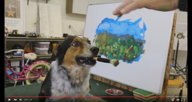 絵筆を自在に操る天才ワンコ! ジャンピー君が風景画を描く動画に絶賛コメントが殺到中 /「確実に俺より上手い」「あの尻尾を見てくれ!」