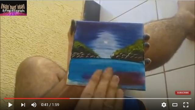 自分の手を筆代わりにしてお絵描き!「ね、簡単でしょ?」のアノ人を彷彿とさせる手法で絵を仕上げていく男性