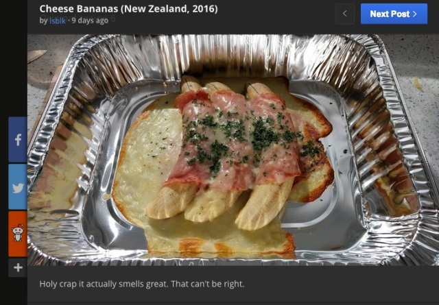 1970年代のレシピ「チーズバナナ」が奇妙すぎる! 勇気ある人物が実際に作った画像をごらんください